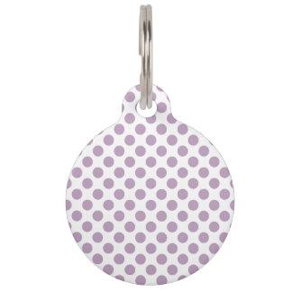 Lilac Polka Dots Pet Tag