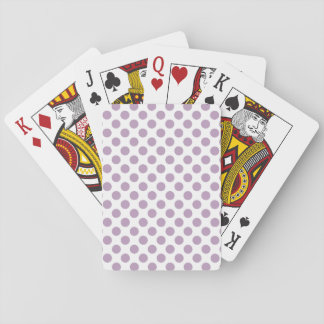 Lilac Polka Dots Playing Cards