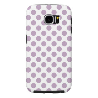 Lilac Polka Dots Samsung Galaxy S6 Cases