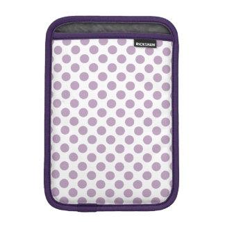 Lilac Polka Dots Sleeve For iPad Mini