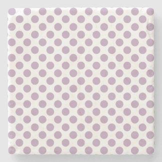 Lilac Polka Dots Stone Coaster