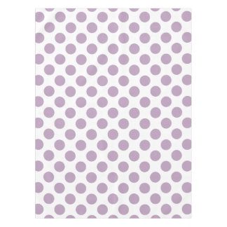 Lilac Polka Dots Tablecloth