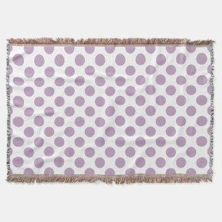 Lilac Polka Dots Throw