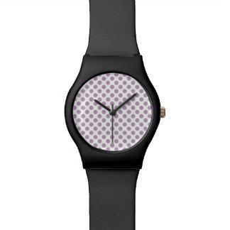 Lilac Polka Dots Watch