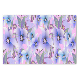 Lilac Poppies Tissue Paper