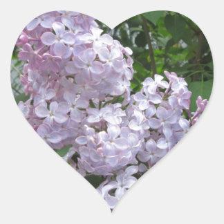 Lilac Pretty Purple Heart Sticker