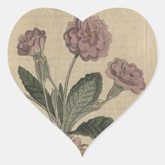 Lilac Primrose Heart Sticker