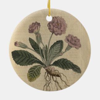 Lilac Primrose Round Ceramic Ornament