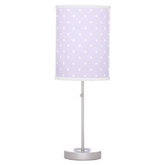 Lilac Purple and white delicate polka dot Desk Lamps
