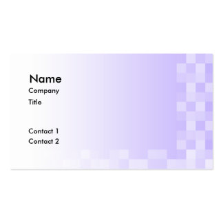 Lilac Purple and White Squares Pattern. Pack Of Standard Business Cards