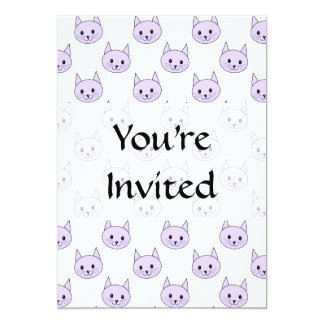 Lilac Purple cat pattern. Card