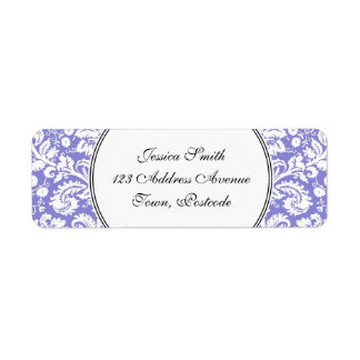Lilac purple damask pattern