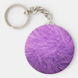 Lilac Purple Fur Keychain