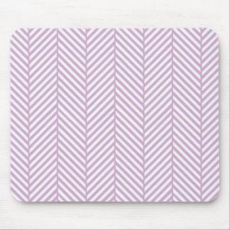 Lilac Purple Herringbone Mouse Pad