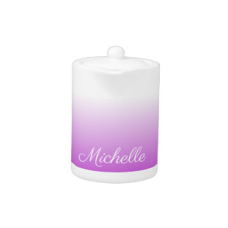 Lilac purple ombre personalized name