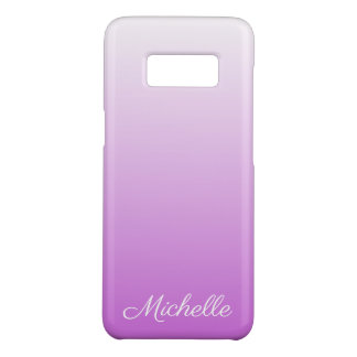 Lilac purple ombre personalized name Case-Mate samsung galaxy s8 case