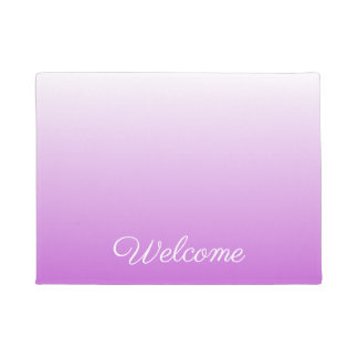 Lilac purple ombre personalized name doormat
