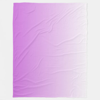 Lilac purple ombre personalized name fleece blanket