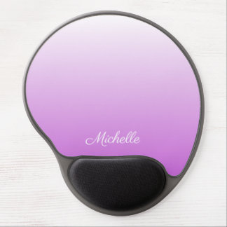 Lilac purple ombre personalized name gel mouse pad