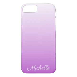 Lilac purple ombre personalized name iPhone 8/7 case