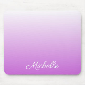 Lilac purple ombre personalized name mouse pad