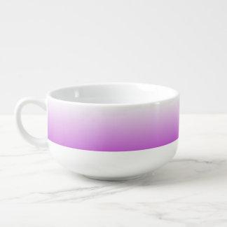 Lilac purple ombre personalized name soup mug