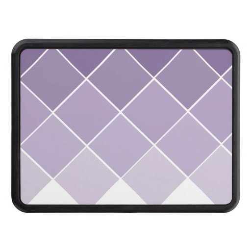 Lilac Purple Ombre Wedding Tow Hitch Covers