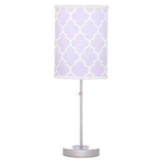 Lilac Purple Quatrefoil pattern Table Lamp