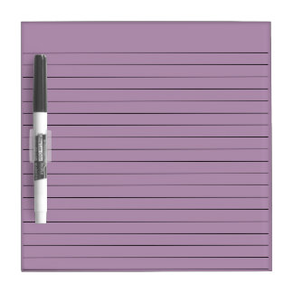 LILAC PURPLE STRIPED LINES, WRITING NOTE BOARD Dry-Erase BOARD