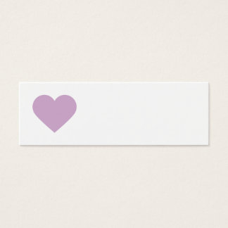 Lilac Purple Sweet Heart and Chevron Gift Tags Mini Business Card