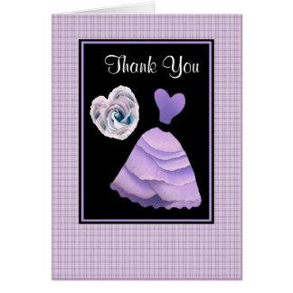 LILAC PURPLE Thank You - Bridal Shower Card