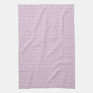 Lilac Purple Weave Mesh Look Kitchen Towel