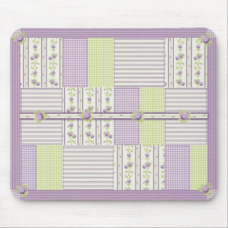 Lilac Rose Quilt Mousepad