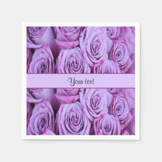 Lilac Roses Disposable Napkins