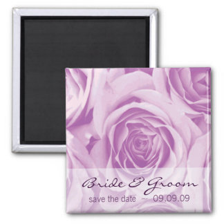 Lilac Roses Save the Date Fridge Magnet
