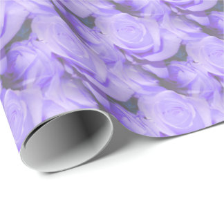 Lilac Roses Wrapping Paper