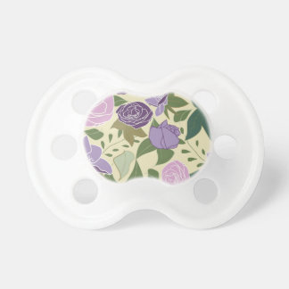 lilac silk roses baby pacifier