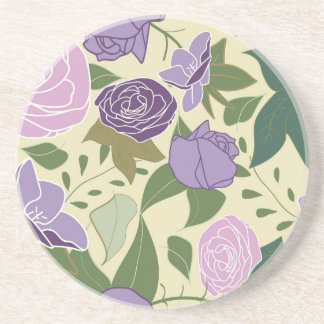 lilac silk roses coaster
