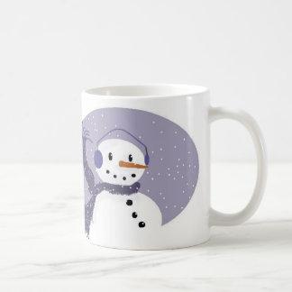 Lilac Snowman Mug