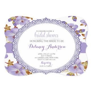 Lilac Spring Bridal Shower Invitation