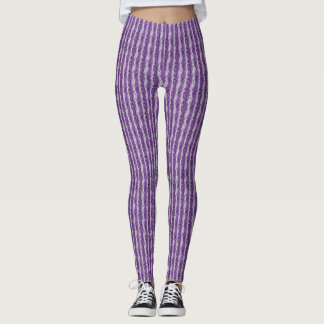 Lilac strip Leggings
