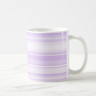 Lilac stripes classic white coffee mug