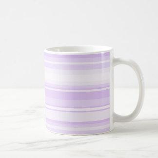Lilac stripes coffee mug