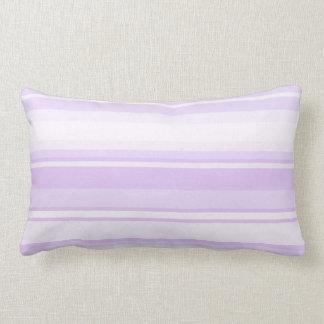 Lilac stripes lumbar pillow