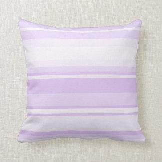 Lilac stripes throw pillow