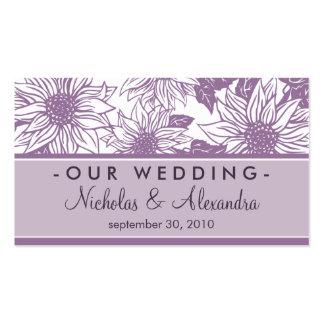 Lilac Sunflowers Wedding Website Card Business Card