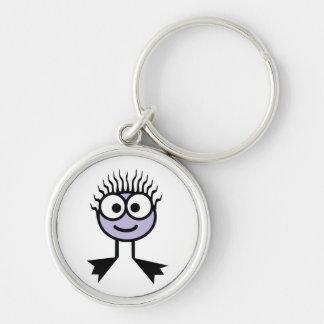 Lilac Swim Character Key Ring