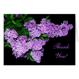 Lilac Thank You! Card