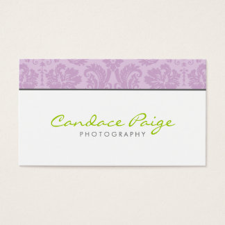 Lilac Vintage Damask Business Card