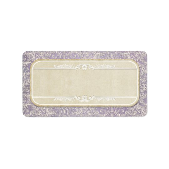 Lilac Vintage French Regency Lace Etched Wedding